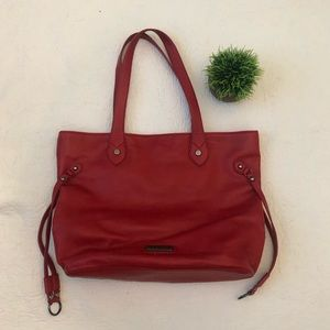 Steve Madden red leather tote